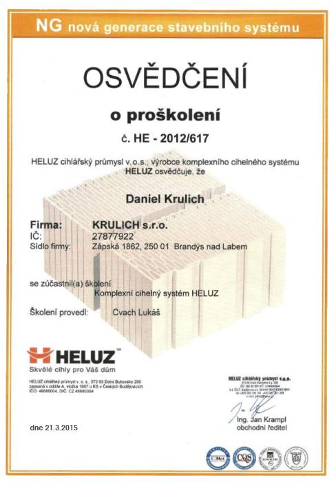 Krulich-Stavby-Domu-certifikat-HELUZ