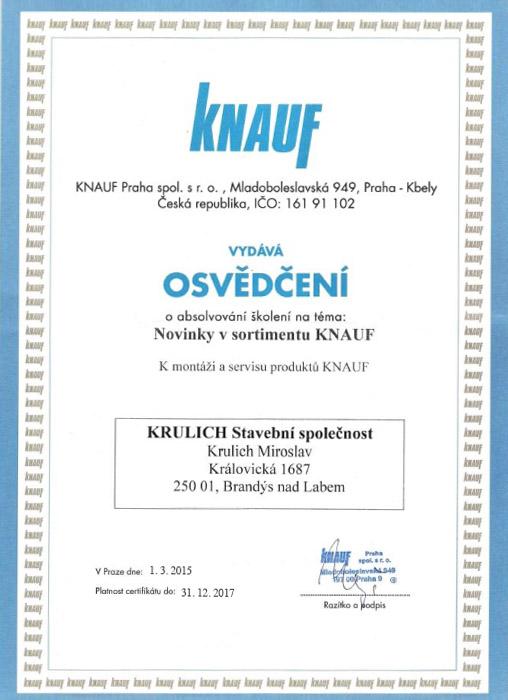 Krulich-Stavby-Domu-certifikat-KNAUF-novinky-v-sortimentu