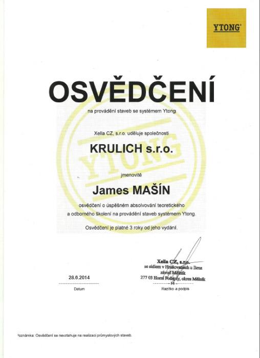 Krulich-Stavby-Domu-certifikat-YTONG